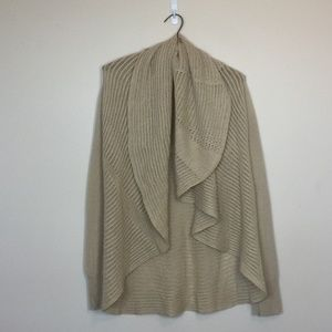 LUCKY BRAND Tan Cocoon Open Front Cardigan S EUC